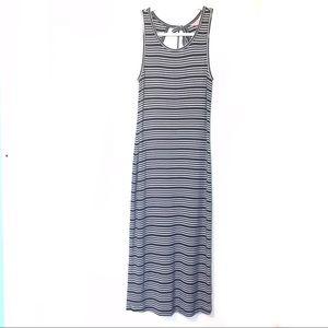 Lilly Pulitzer | Navy Stripe Maxi Dress Tassel XS